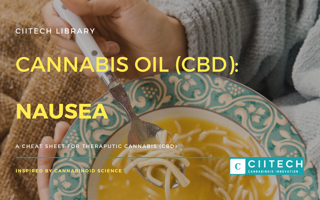 CBD Cheat-sheet: Cannabis and Nausea