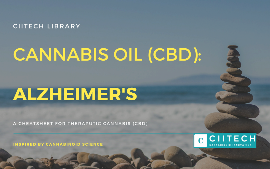 CBD Cheat-sheet: Cannabis and Alzheimer's