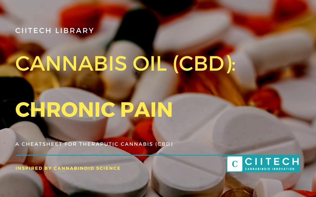 CBD Cheat-sheet: Cannabis and Chronic Pain