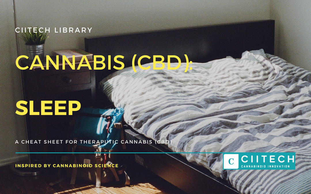 CBD Cheat-sheet: Cannabis and Sleep