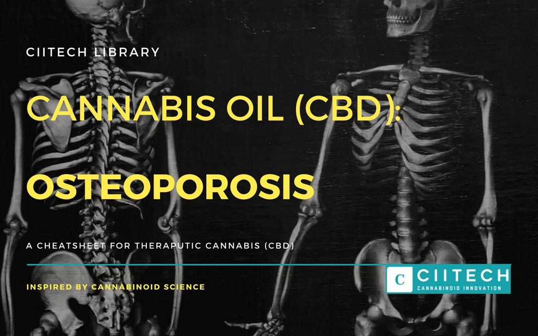 CBD Cheat-sheet: Cannabis and Osteoporosis