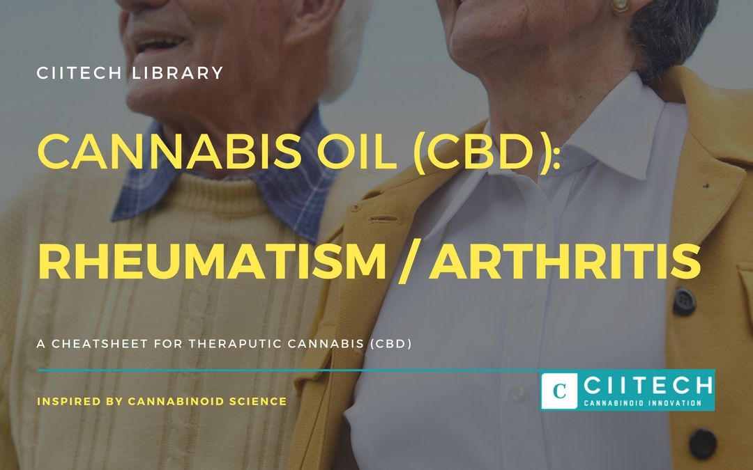 CBD Cheat-sheet: Cannabis and Rheumatism & Arthritis