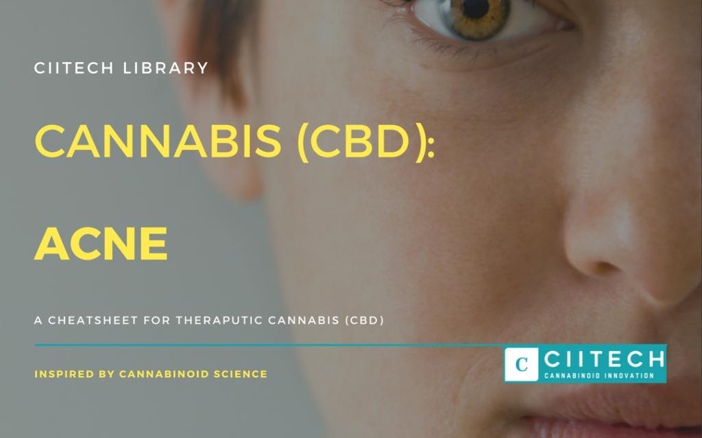 Cannabis Cheatsheet acne CBD Cannabis Oil UK
