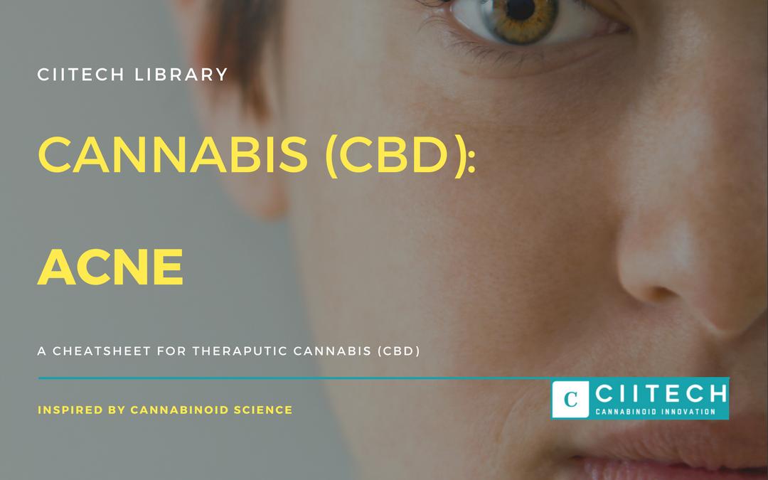 CBD Cheat-sheet: Cannabis and Acne