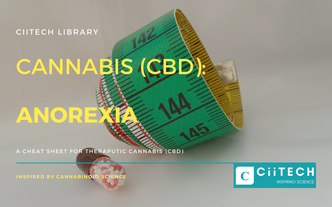 ANOREXIA: Cannabis (CBD) Cheat-sheet