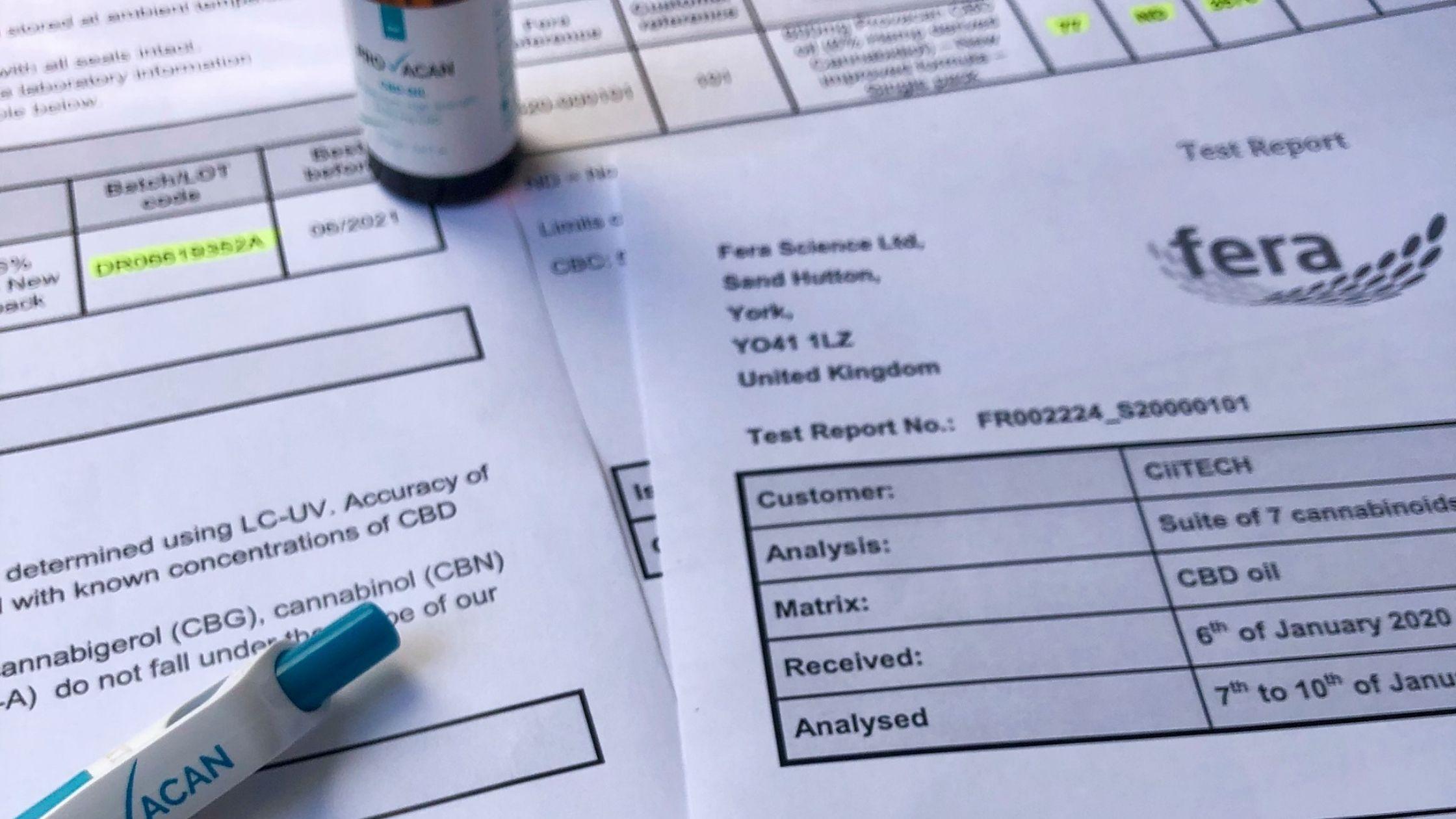 Understanding CBD lab reports
