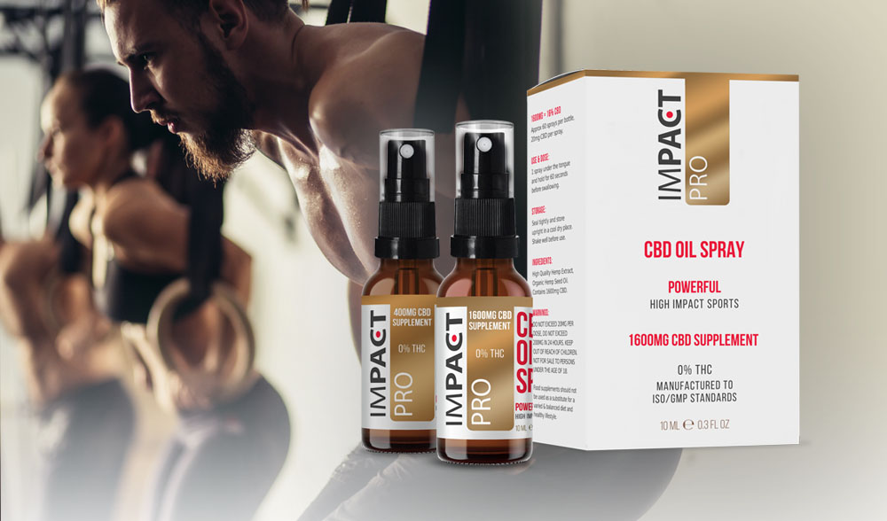 CiiTECH brand IMPACT SPORTS CBD, launches Pro range of CBD oil with 0%THC!