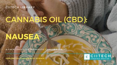 Cannabis Cheatsheet Nausea CBD Cannabis Oil UK
